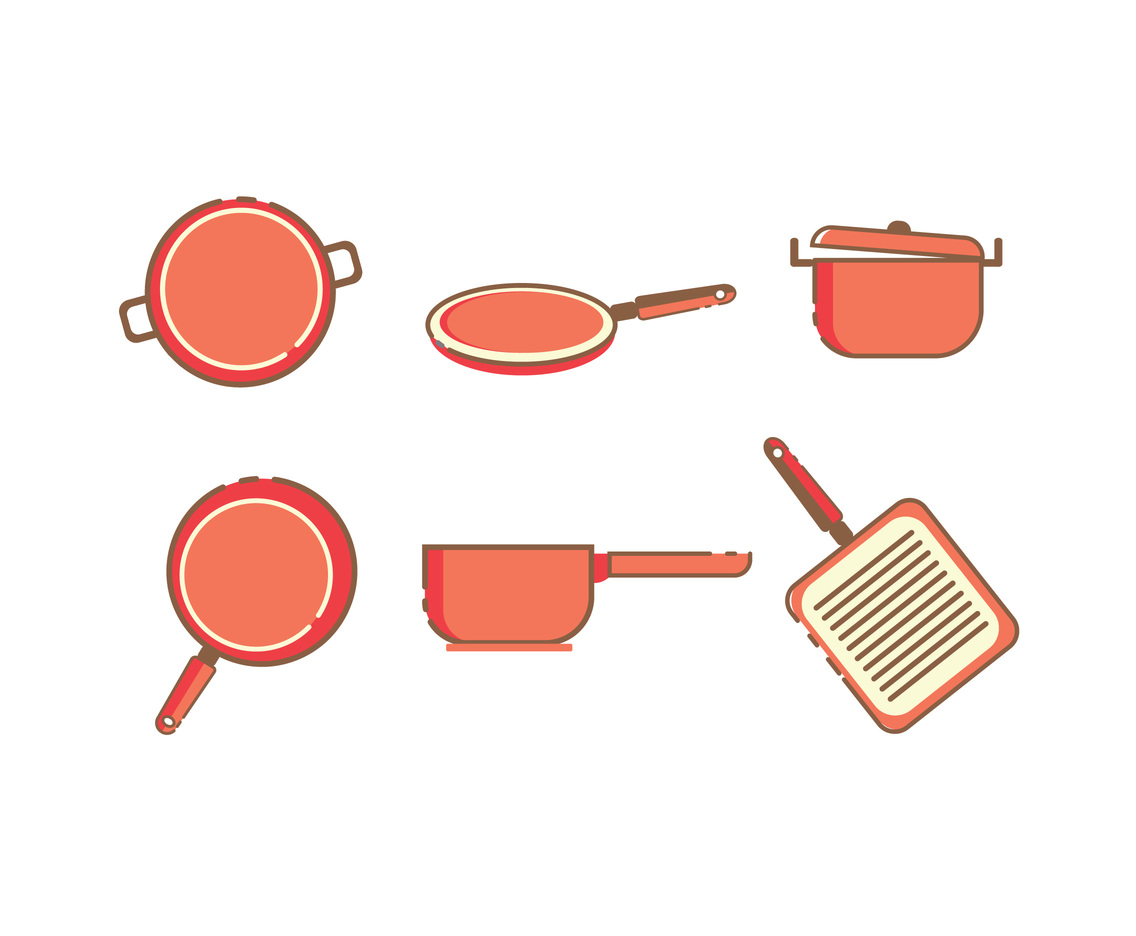 Red Pans Vector