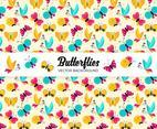 Colorful Butterflies Vector Background