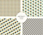 Abstract Geometric Seamless Patterns Vector