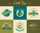 Earth Day Vector Labels