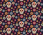 Sugar Skulls Vector Seamless Pattern
