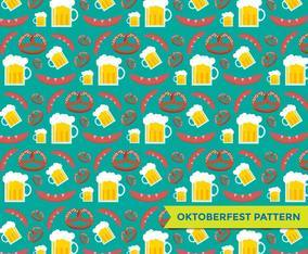 Oktoberfest Elements Pattern Vector