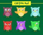 Cartoon Owl Illustration Vector