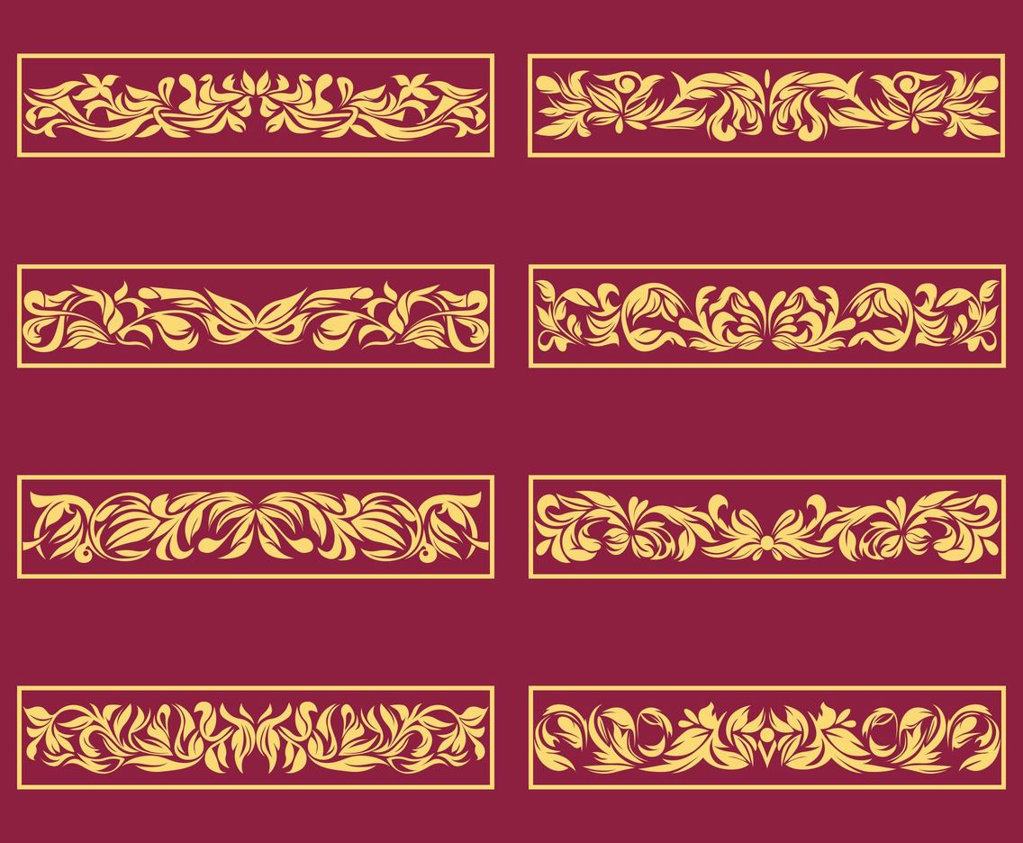 Ornament Accent Vector set