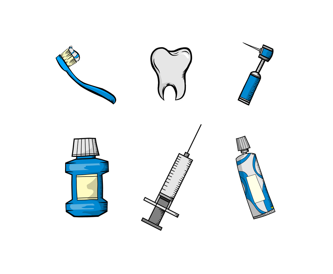 Dental Health and Treatment Vector