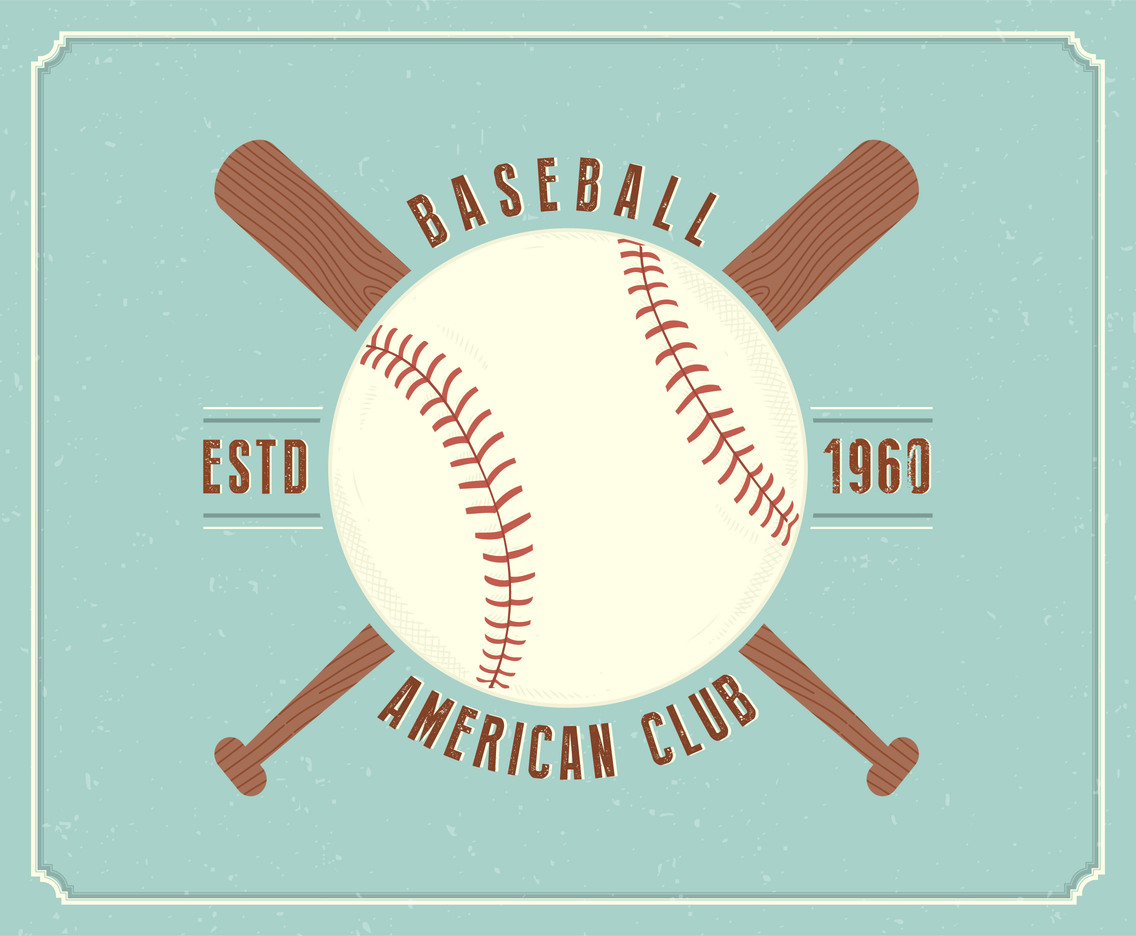 vintage baseball vector emblem vector art graphics freevector com rh freevector com baseball vector designs baseball vector designs