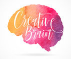 Creative Brain Watercolor Design