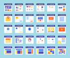 Flat Wireframes Vector Icons