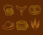 Octoberfest Element Line Vectors
