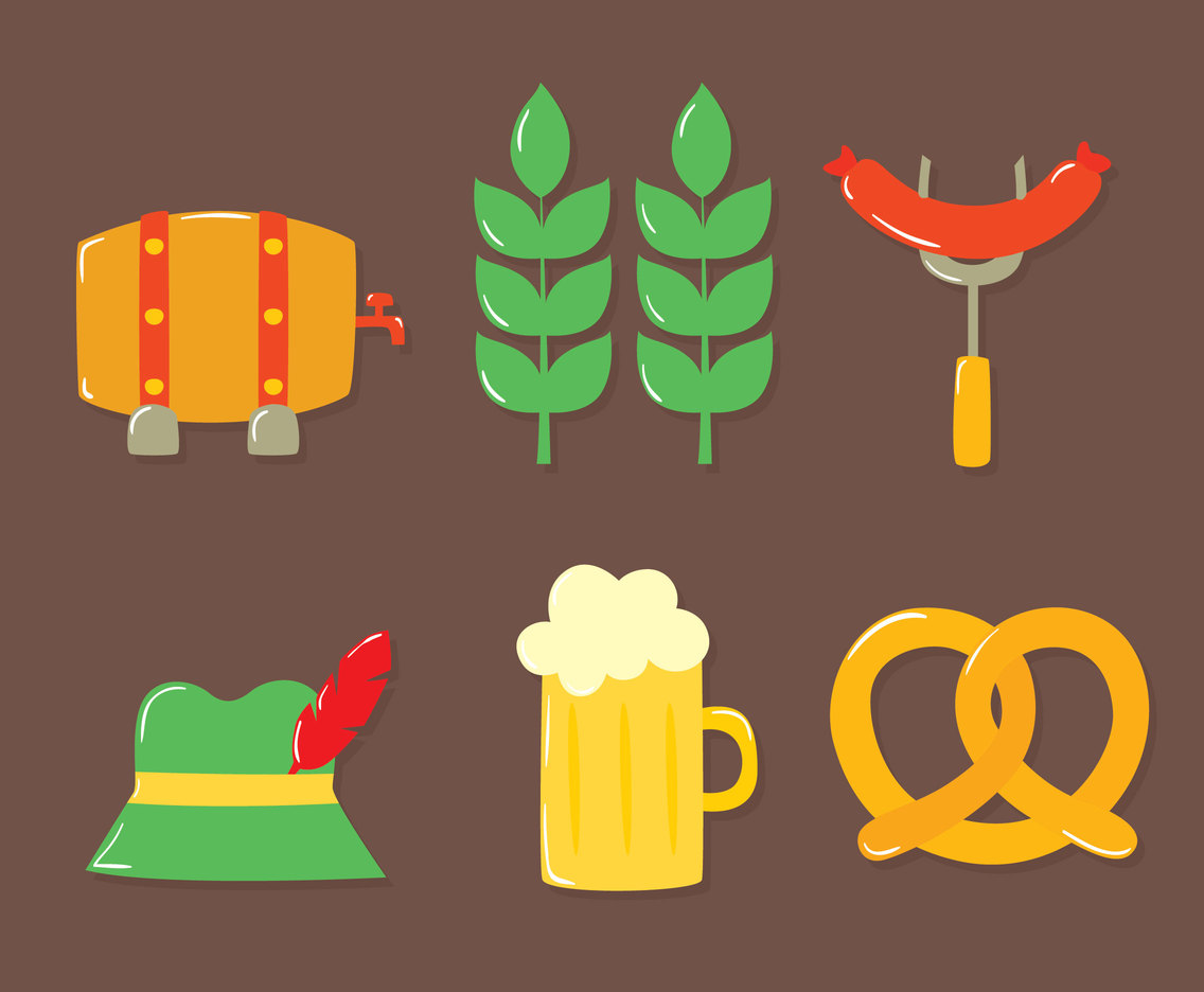 Nice Oectoberfest Element Collection Vector
