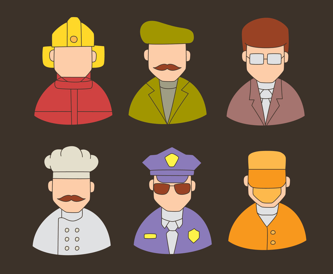 Nice Person With Different Occupation Vector