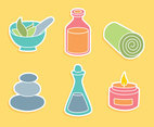 Spa Element Colors icons Vector