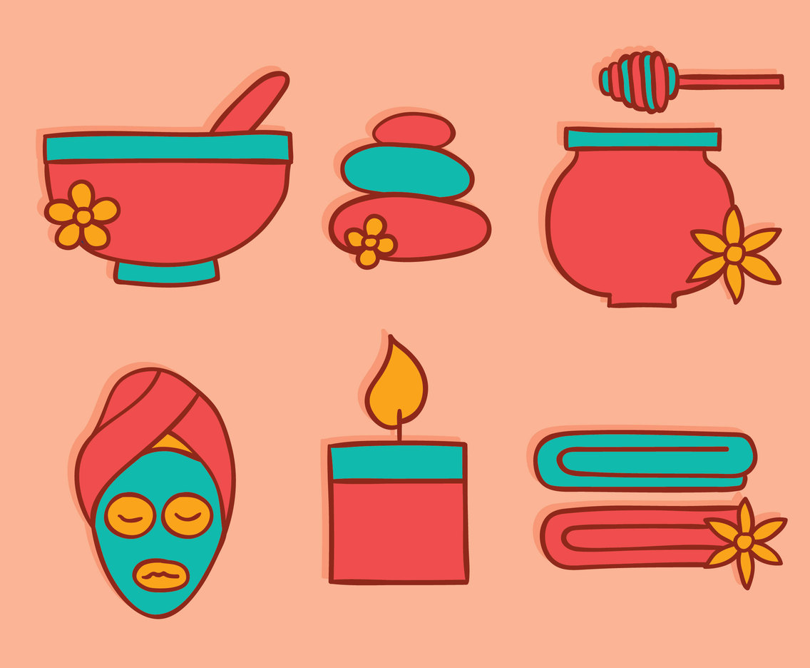 Hand Drawn Spa Collection Vector