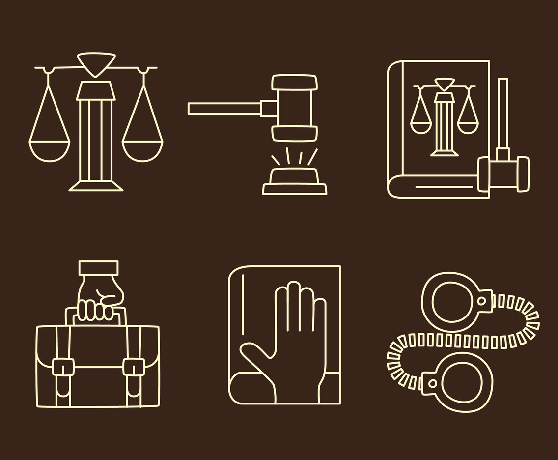 Lawyer Element Line Vectors