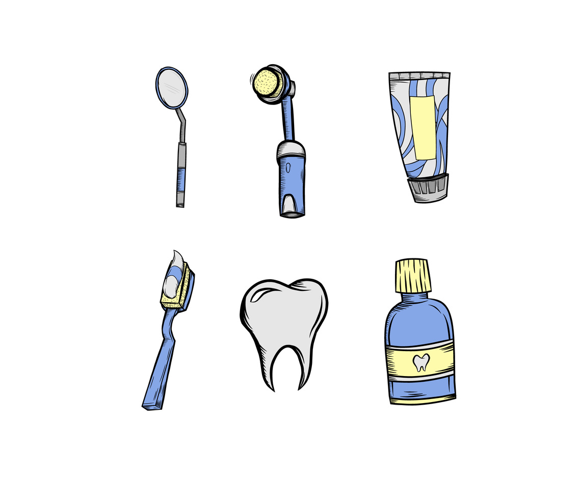 Dental Doodle Icon Vector