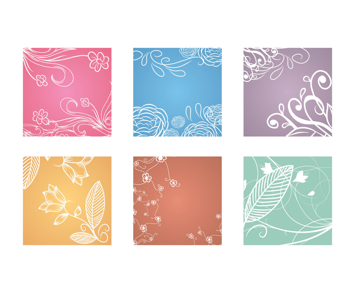 Lineart Floral Background Vector