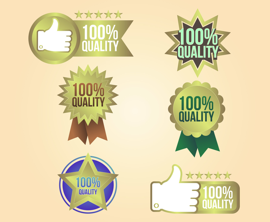 Warranty Labels Quality Vector