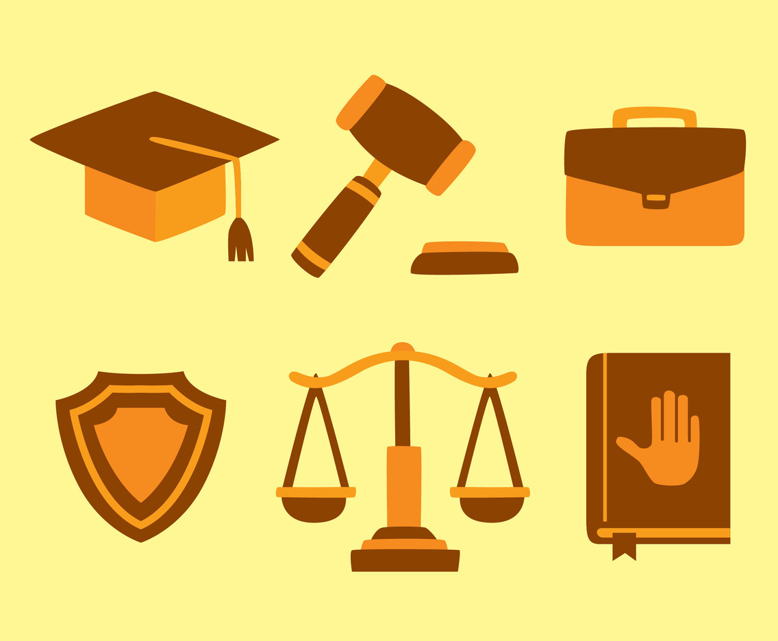 Lawyer Element Flat Vector