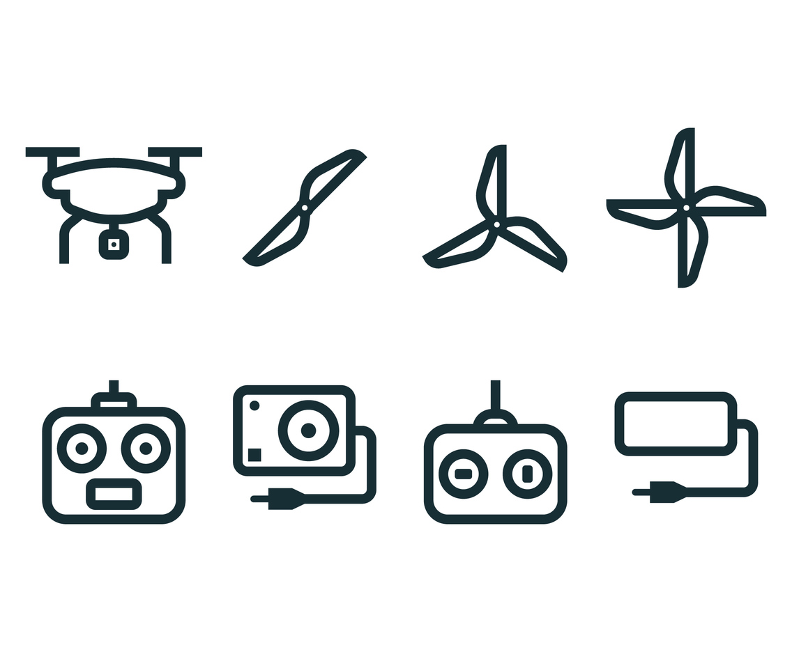 FPV linear icons