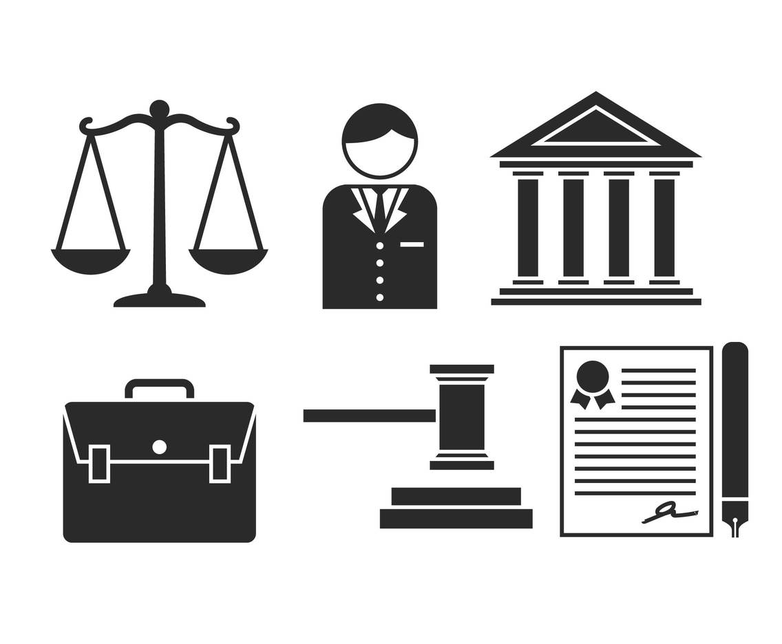 Lawyer Vector Icon Set