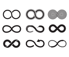 Black Eternity Symbol Vector
