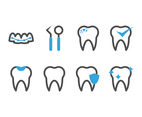 Dental Line Icons