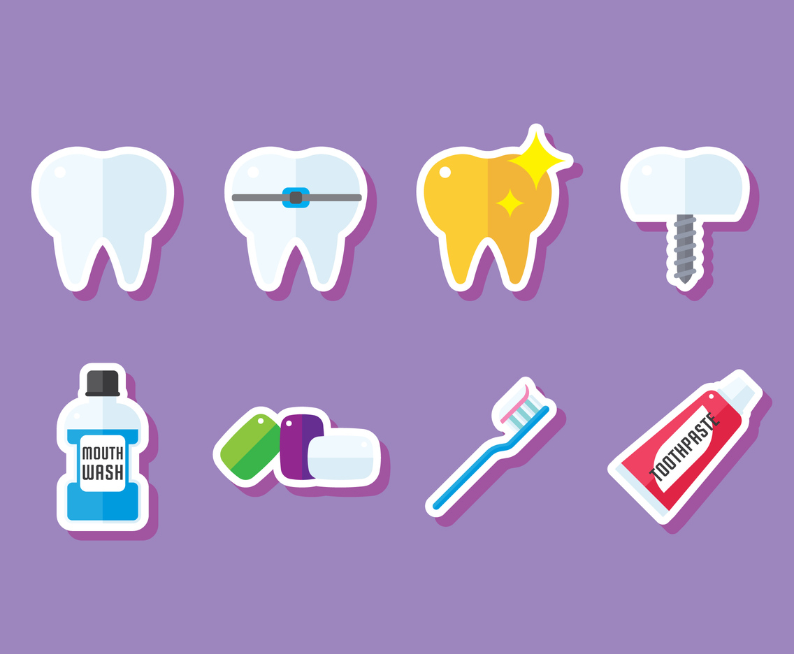 Dental Flat Stickers