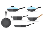 Frying Pan Vector Set