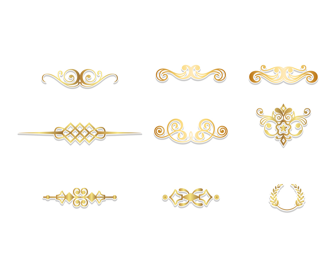 Gold Accent Vector Set