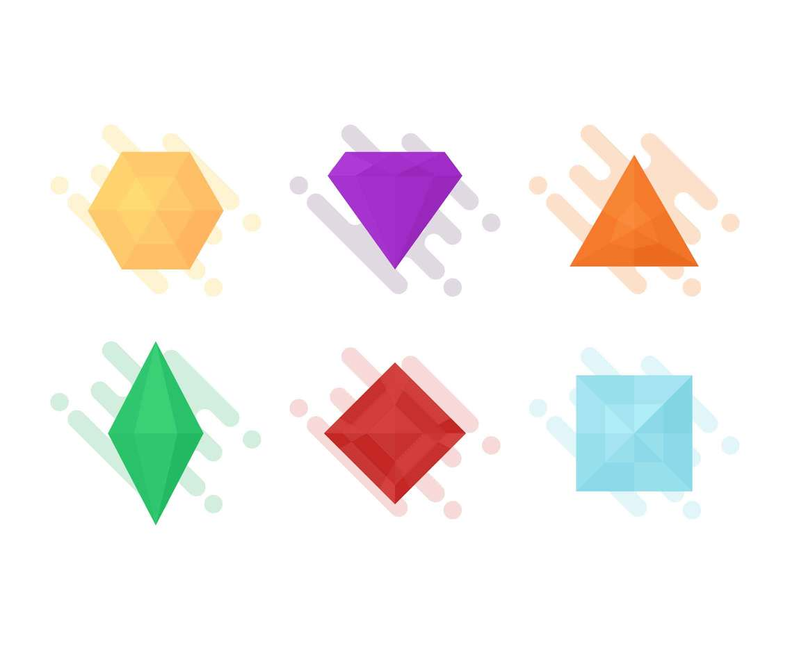 Free Awesome Gem Vectors