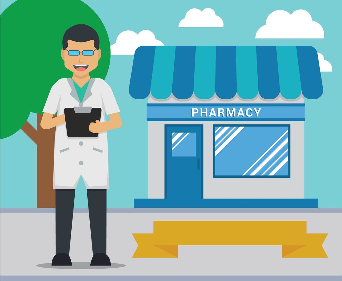 Pharmacy vector illustration