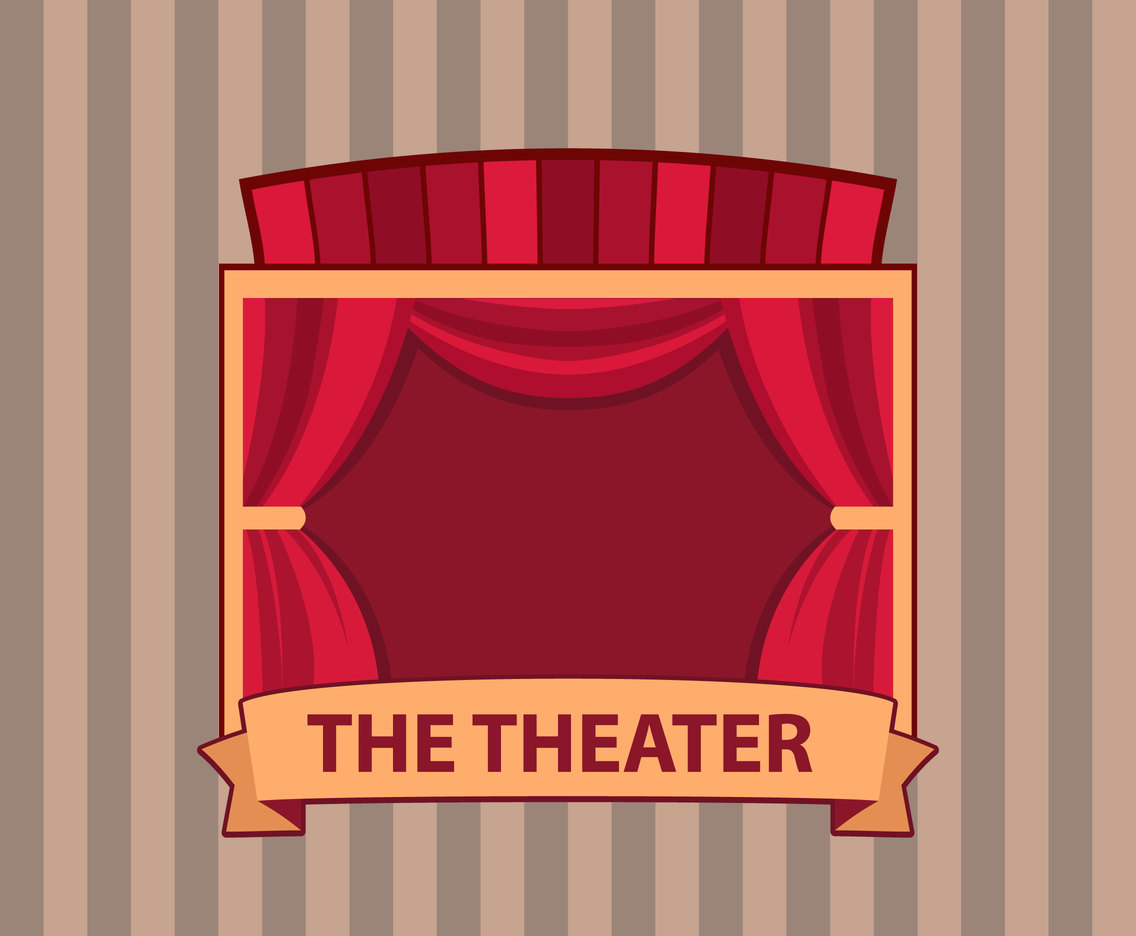 Theater Stage Vector Background