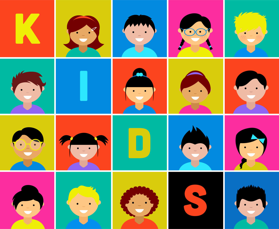 Kids Character Vector Icon Set