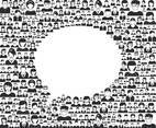Speech Bubble Formed By People Vector Icons