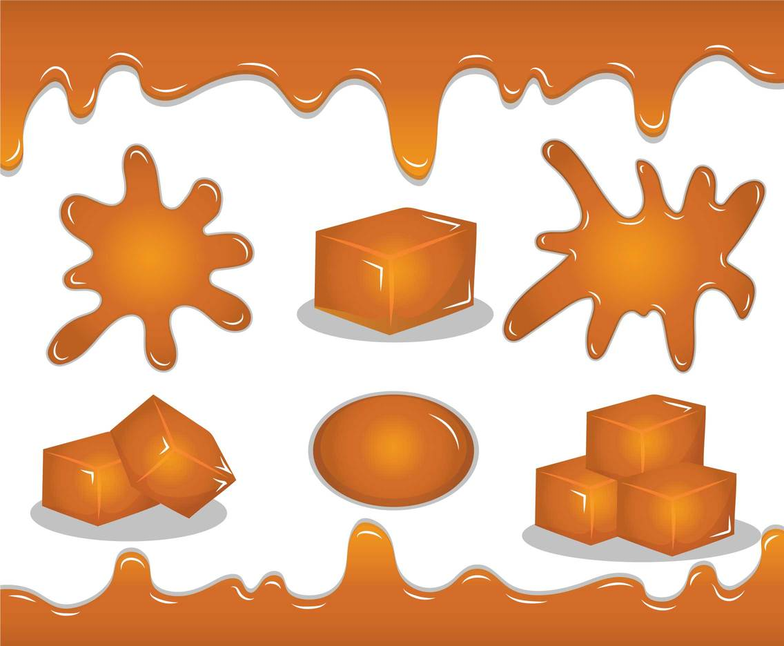 Caramel vector set