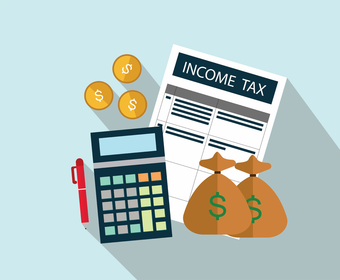 Income Tax Vector Art