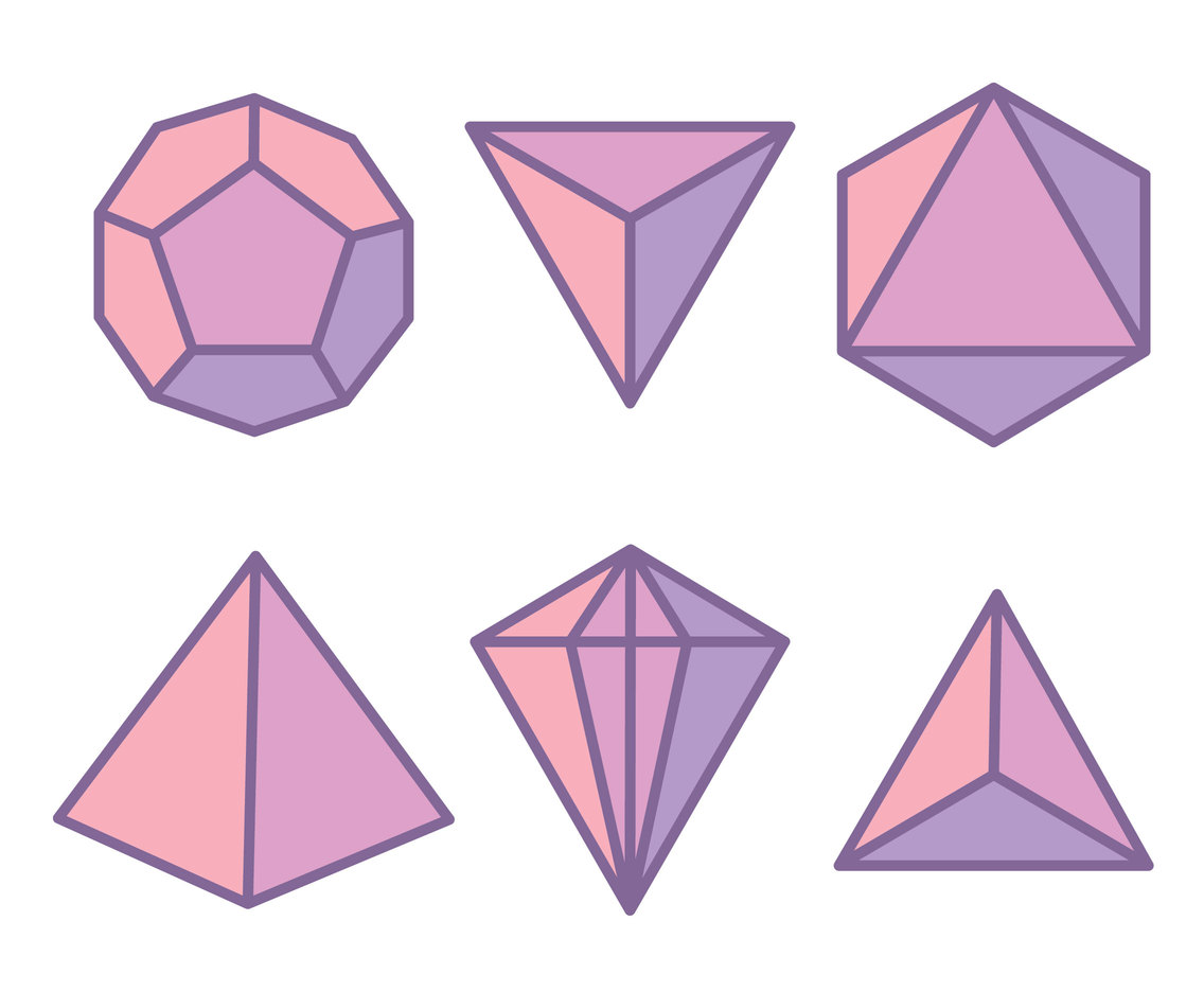 Purple Gems Vectors