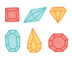 Hand Drawn Gems Vectors