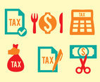 Tax Element Icons Vectors