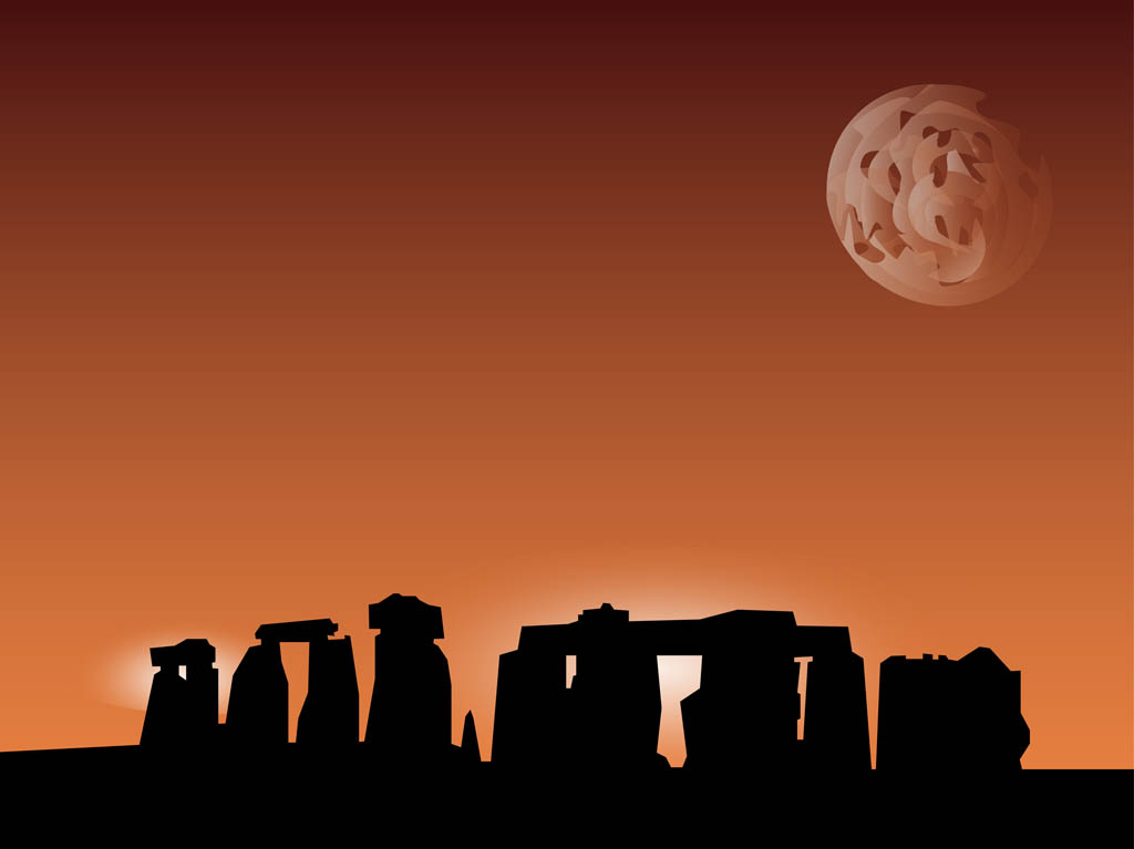 Stonehenge Vector Background