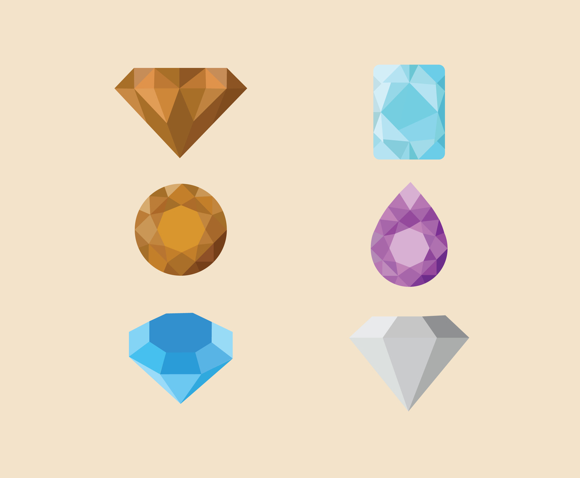 Various Diamonds Vector