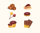 Sweet Cookies and Candies Vector