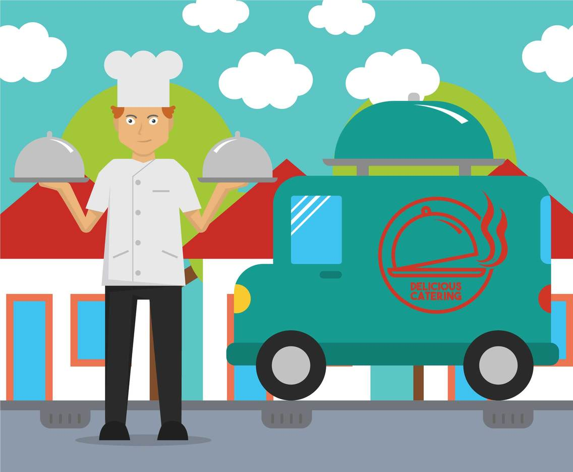 Catering vector illustration