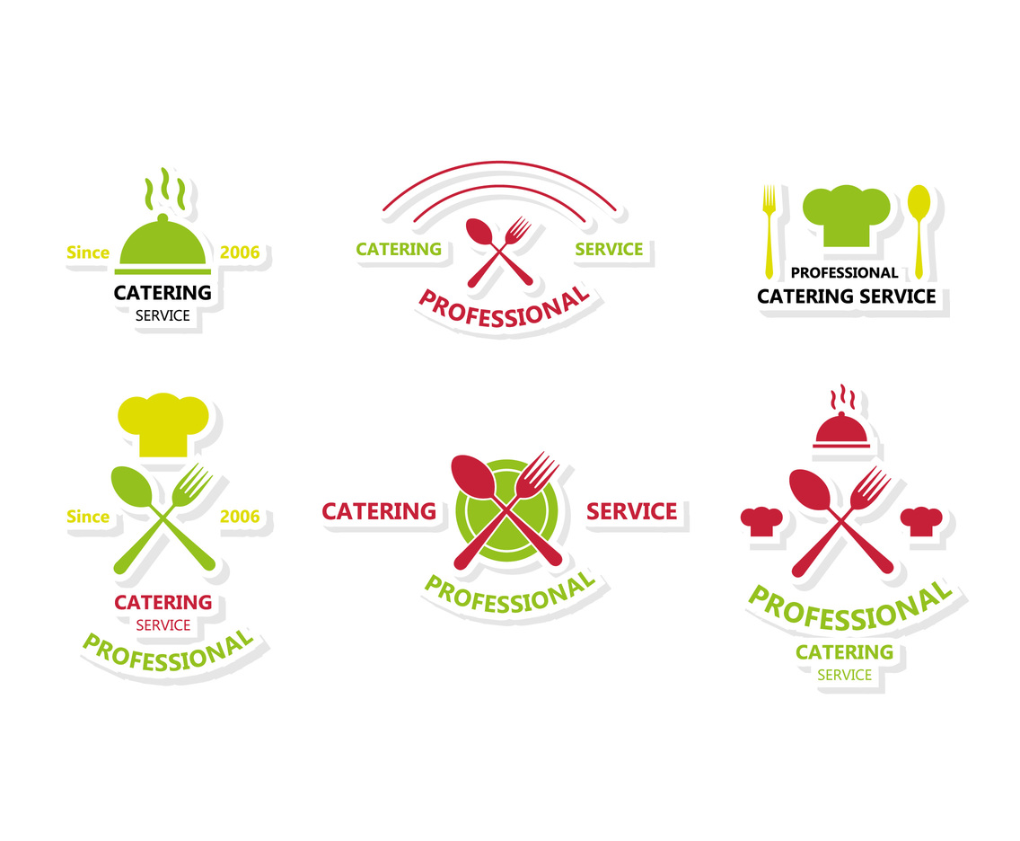 Simple Flat Catering Logo