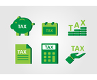 Green Flat Tax Icon