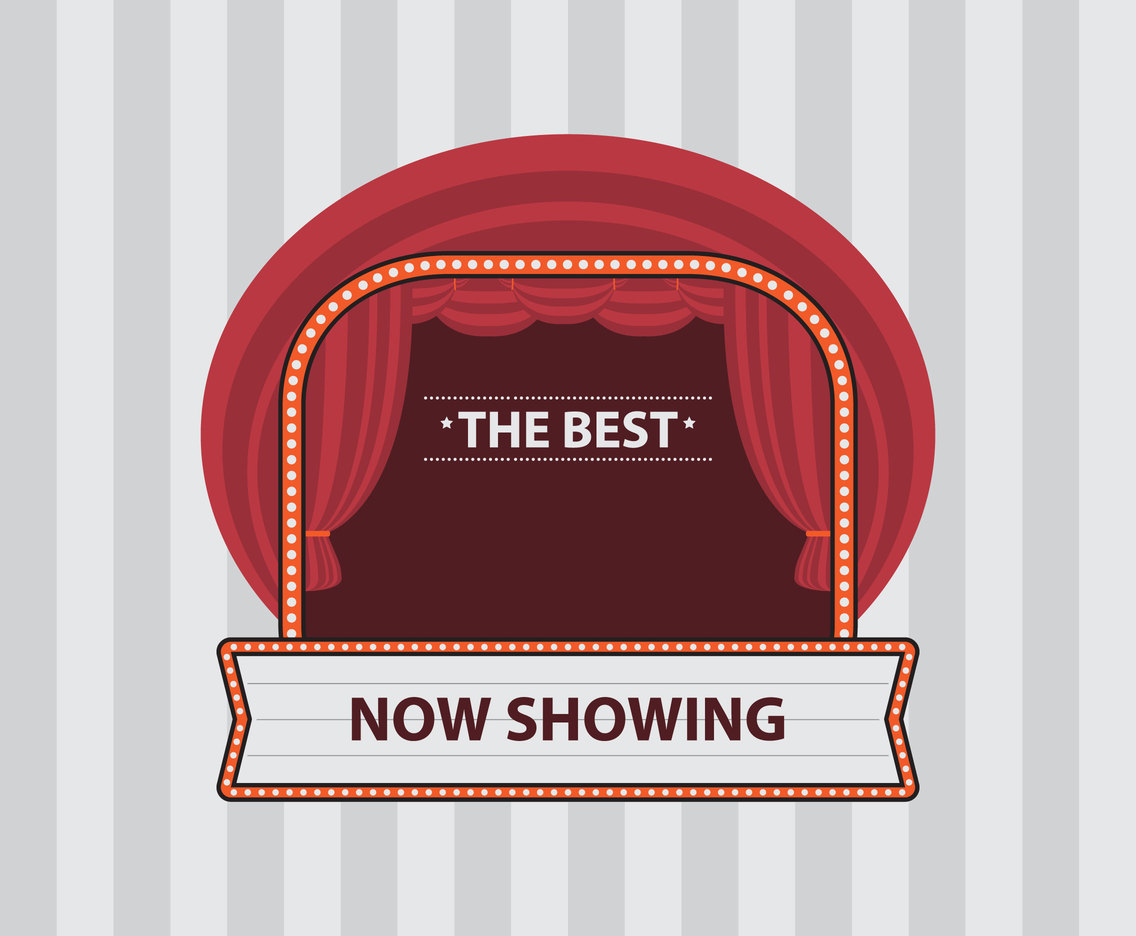 Red Lighted Theater Stage Vector