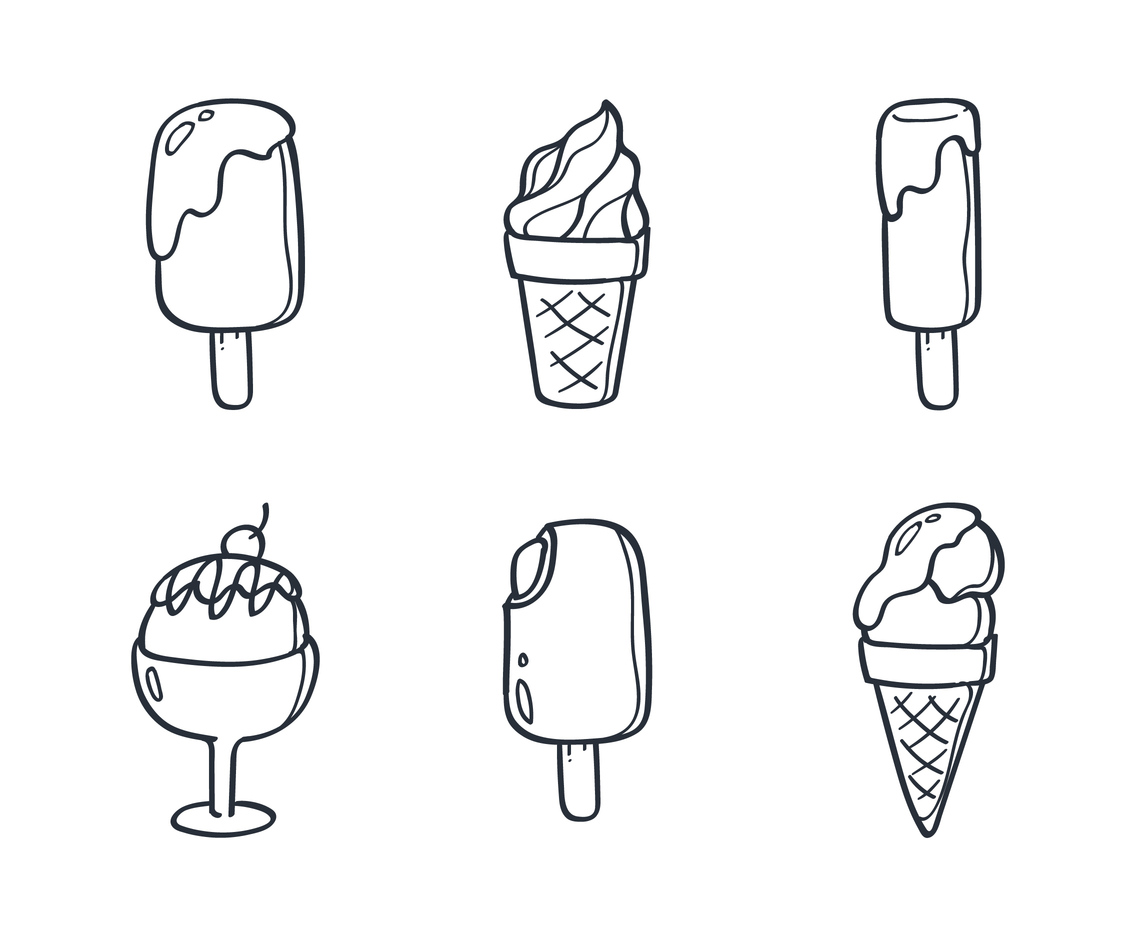 Ice Cream Doodle Vector Art Graphics Freevector Com Here presented 60+ ice cream drawing images for free to download, print or share. ice cream doodle vector art graphics