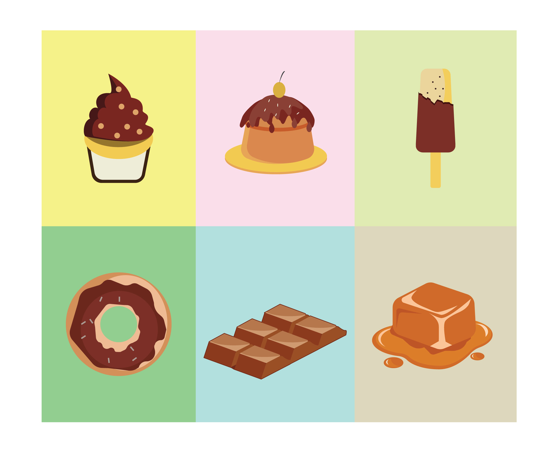 Caramel Sweet Vector
