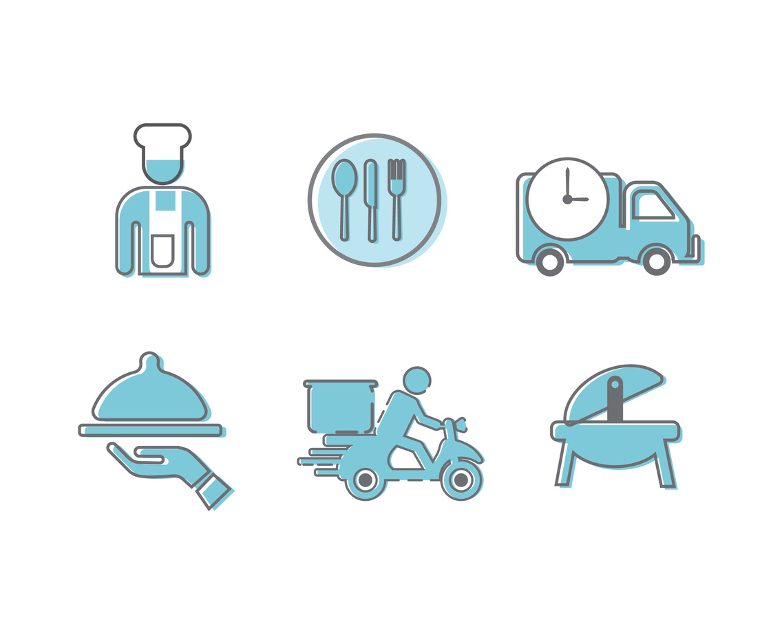 Catering Icons Vector