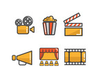 The Theatre Icons Vector